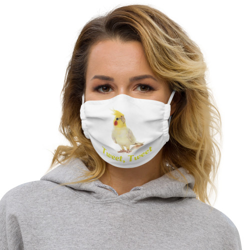Cockatiel - Tweet, Tweet - Face Mask