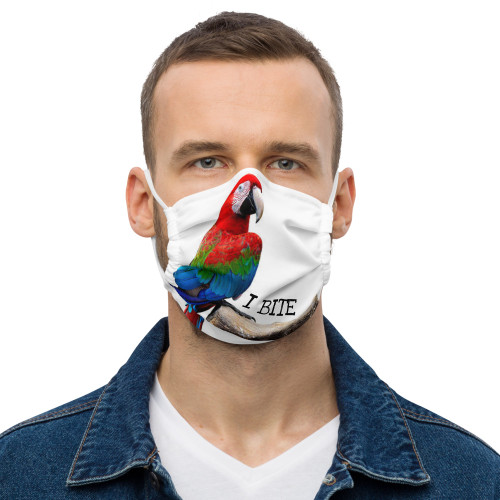 Macaw - I Bite - Face Mask
