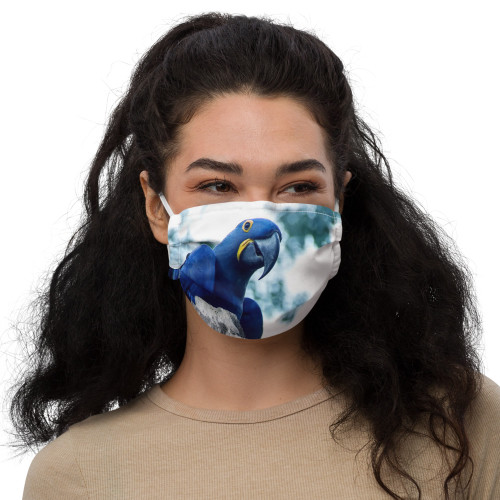 Hyacinth Macaw - Face Mask