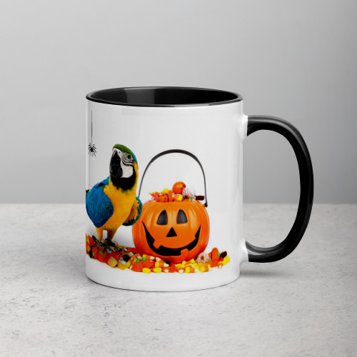 Macaw Halloween Mug with Colour Inside