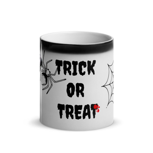 Glossy African Grey Halloween Magic Mug