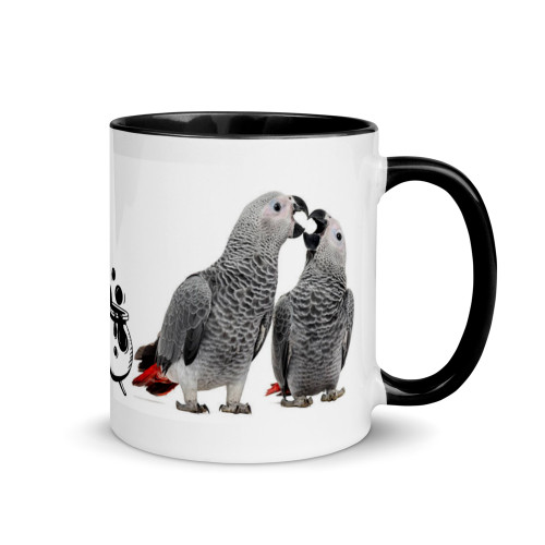 African Grey Halloween 2 Mug with Colour Inside