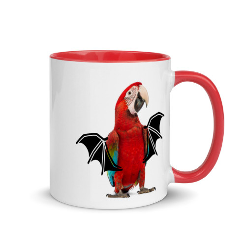 Macaw Halloween Wings Mug with Colour Inside
