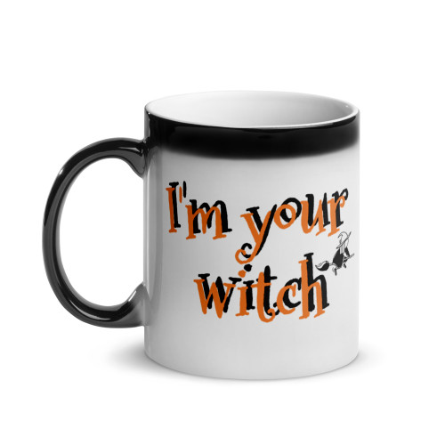 Glossy Macaws Halloween Magic Mug
