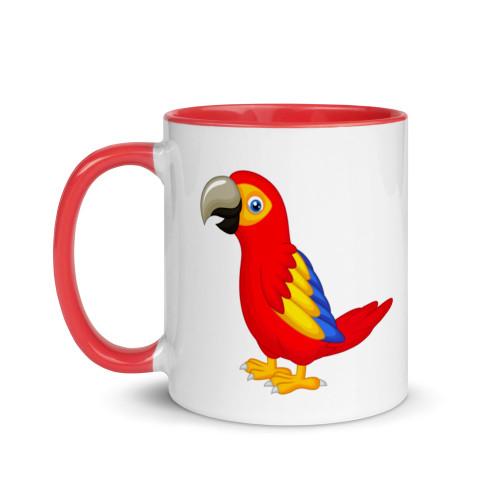 Christmas Parrot Mug with Colour Inside