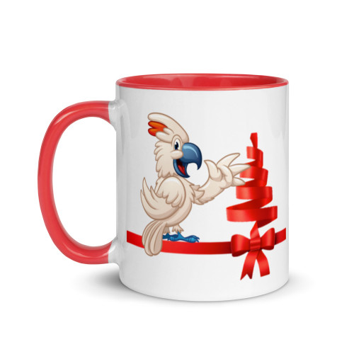 Christmas M Cockatoo Mug with Colour Inside