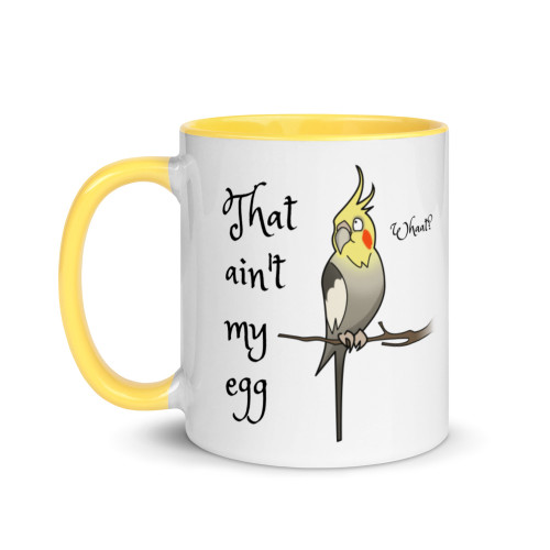 Cockatiel Easter Mug with Colour Inside