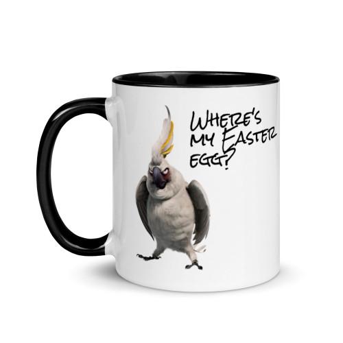 Cockatoo Easter Mug with Colour Inside