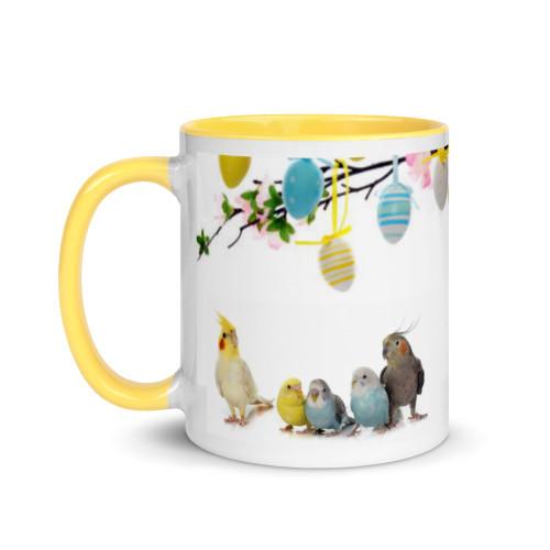 Easter Birds Mug with Colour Inside