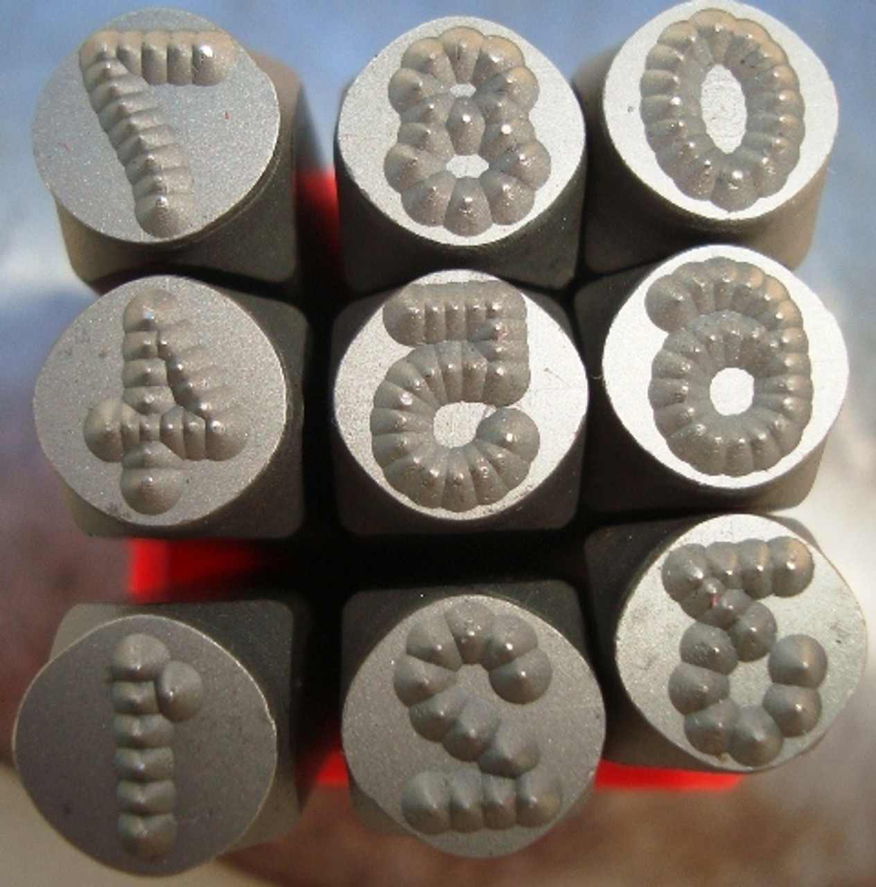 Metal Dot Stamps 6mm Number set only HRC-58-62 heads tail tempered best quality