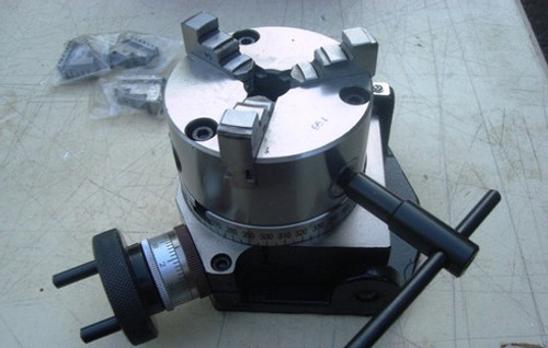 "4""/ 100mm Tilting Rotary Table with Mounted 3 Jaw Chuck"
