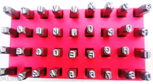 36pc Number & Letter Metal Stamp Sets (1mm to 12mm) - High Quality