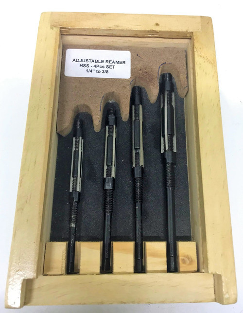 4pc HSS Expanding Reamer Set - 1/4 to 3/8""