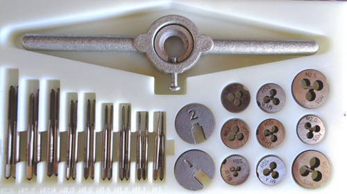 Metric micro size Taps & Die set M1.0-M2.5 31Pce made from HSS