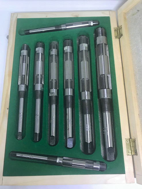 "HSS Adjustable Expanding Reamer set 8pc 12-27mm/15/32- 1.1/16"" Aprica Branded"