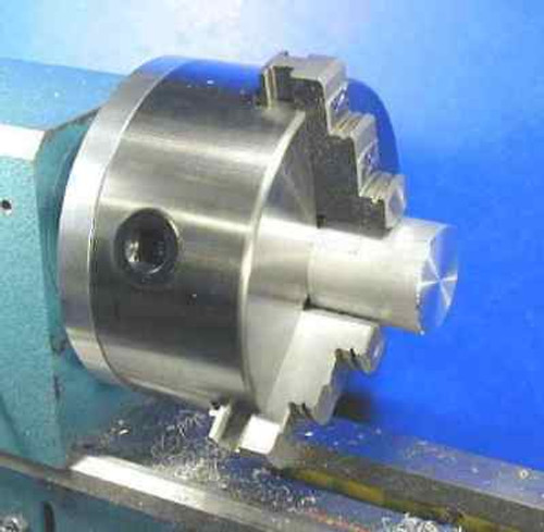 Revolving 3 Jaw Self Centering Chuck - 2000mm OD mounted on 5MT Rotating Arbor