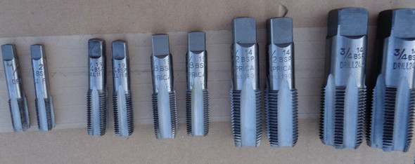 """BSP Parallel Tap Set (10pc) - 1/8"""" to 3/4"""""""