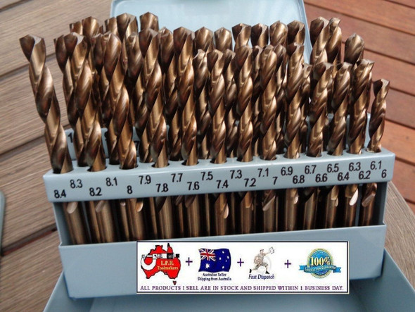 6 to 10mm cobalt drill set