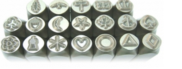 6mm Metal Pattern Stamp Set (High Quality) - 27 Designs