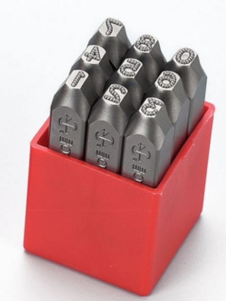 Metal Dot Stamps - Numbers Set (3mm to 12mm) HRC-58-62 [Premium Quality]