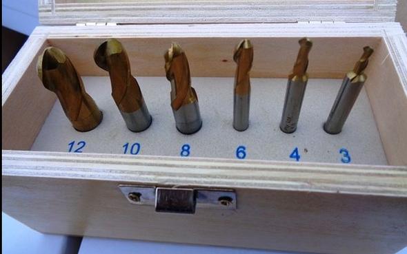 Ballnose Slotdrill Set - Straight Shank (6pc)   3 to 12mm