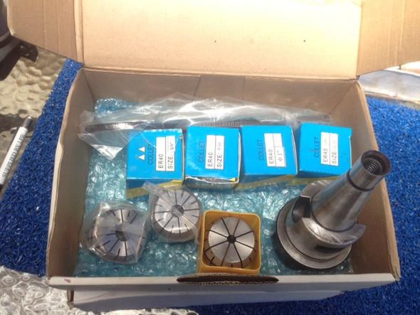 ER40 Collet Chuck System Starter Set 7 collets Met/Imp Arbors inside