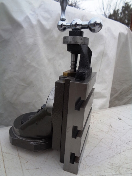 """Vertical Slide Complete with vice & Rotary Table for lathe 5"""" x 4"""" turn your Lathe into a Mill"""