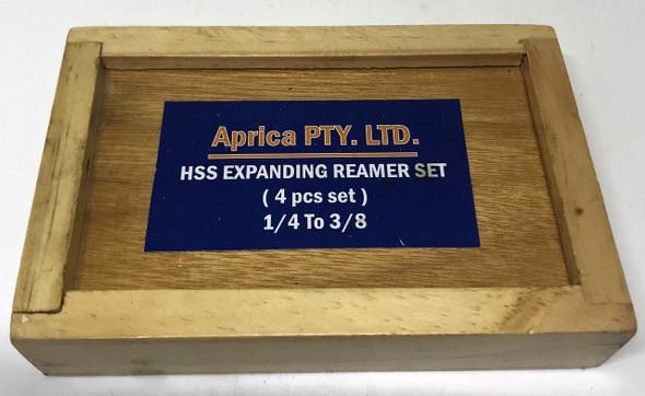 "4pc HSS Expanding Reamer Set - 1/4 to 3/8"""
