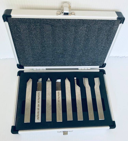 """Lathe HSS Cutting Tools (8pc Set - Assorted Profiles Ready To Use) - 1/4"""" - 1/2"""""""