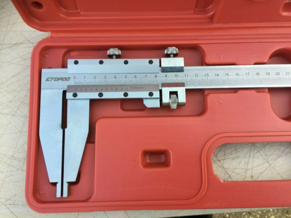 "Plain Vernier Caliper (0-500mm / 18"") - Polished Steel [Industrial Quality]"