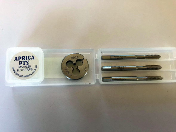 Metric HSS Tap & Die Combination Sets Sizes 5mm to 12mm