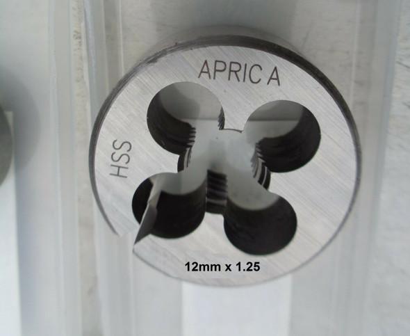 12mm x 1.25 pitch hss button die