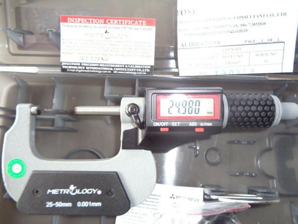 buy calibrated 25 50mm digital micrometer australia