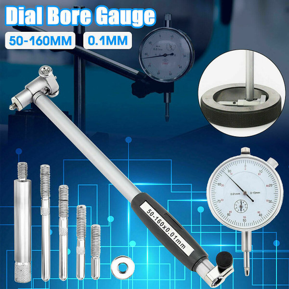 Cylinder Bore gauge With Dial Indicator (50-160mm Range In .01mm Increments)