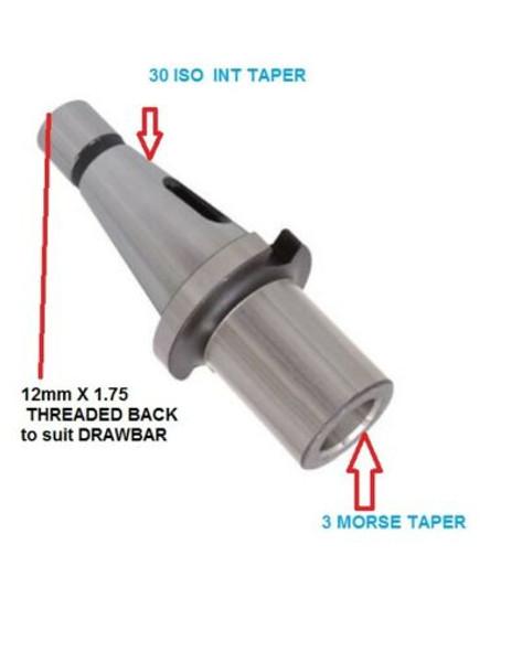 Milling Reduction Socket (ISO 30 to 3MT) Hardened & Ground