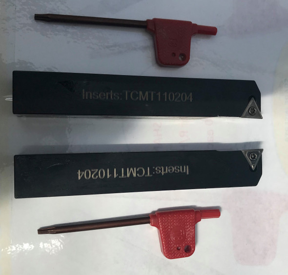 Lathe Insert Holders (Complete with Insert) Left or Right Aprica 10-16mm Shanks