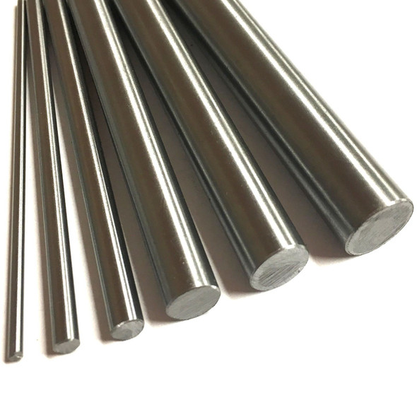 Silver Steel Round Bar (6pc Pack) - [6-8-10-12-16-20mm x 300mm]