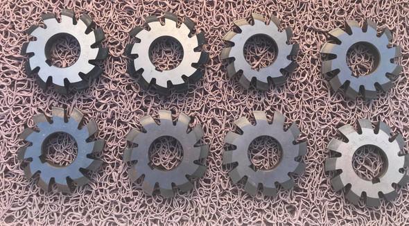 Gear Cutters Involute Modular 3.0 *20P.A full set of 8 Cutters HSS 27mm bore