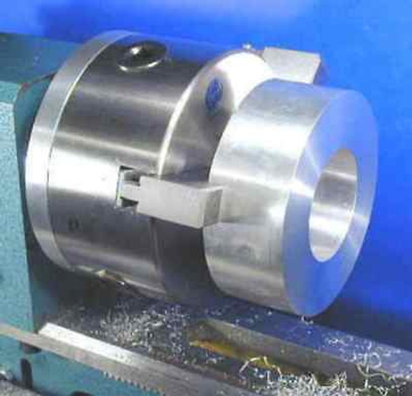 Revolving 3 Jaw Self Centering Chuck - 200mm OD mounted on 5MT Rotating Arbor