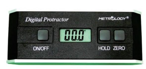 Digital Protractor (0-180deg) Metrology Calibrated Precision .01deg