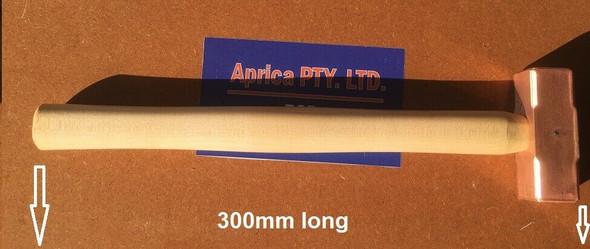 Soft Hammer Copper 25mm x 25mm x 75mm head OAL 300mm * quality Tool