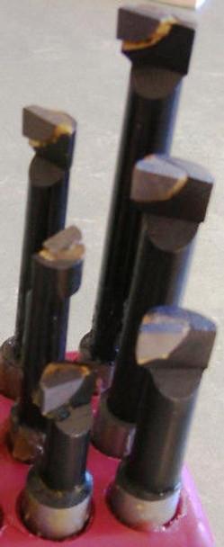 "Carbide Tipped Boring Bars (6pc Set) - 1/2"" Shank"