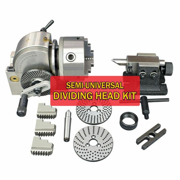 "Semi-Universal Dividing Head Kit (BS-1 | 5"" Height | 6"" Chuck)"