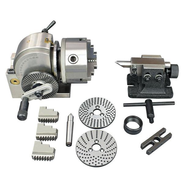 "Semi-Universal Dividing Head Kit (BS-0 | 4"" Height | 5"" Chuck)"