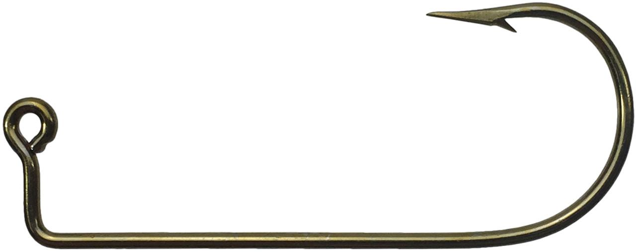 100 Mustad 32755BR Size 1//0 Bronze Aberdeen 90 Degree Jig Hooks 32755BR-10