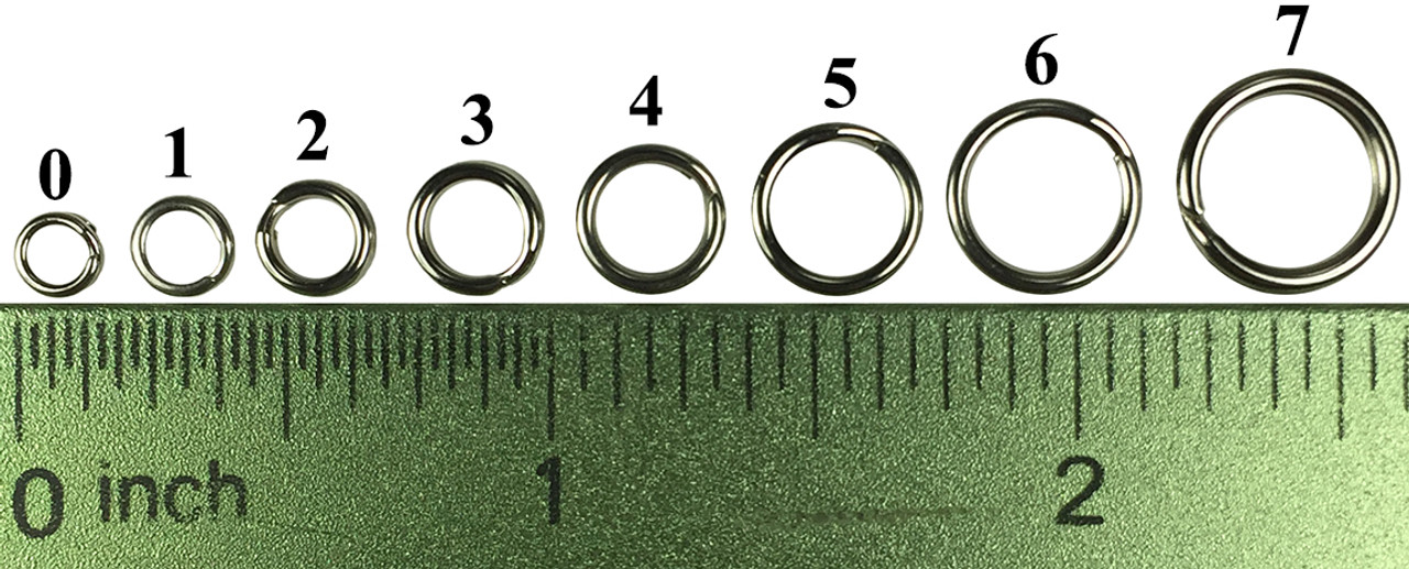 SIZE #1 Split Rings 100 Count Pack Stainless Steel USA MADE Fishing Tackle