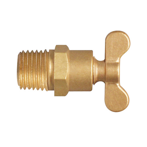 """EFI DC-100 1/4"""" NPT Brass Drain Cock Forged Handle Type"""