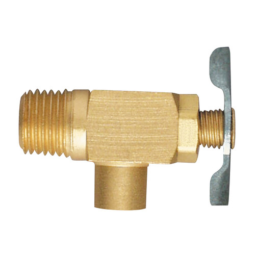 """EFI DC-101 1/4"""" NPT Brass Drain Cock Side Outlet Type"""