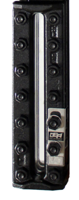 EFI ST-1201 Flat Insert Glass Single Sec Gauge with Stainless Steel Chamber