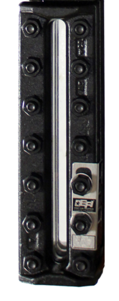 EFI ST-1206 Flat Insert Glass Single Sec Gauge with Stainless Steel Chamber
